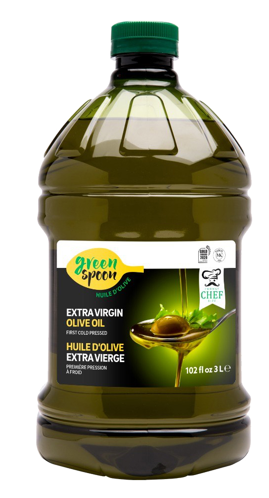 Green Spoon – Huile d'olive 100 % extra vierge – Format chef