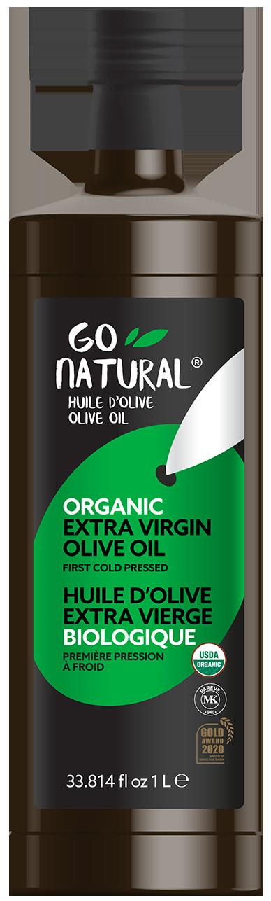 Go Natural – Huile d'olive 100 % extra vierge biologique